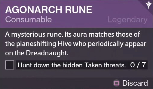 The agonarch rune used in a similar fashion to the patrol beacons
