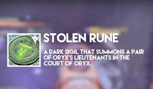 how to get stolen runes destiny