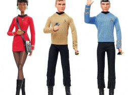 Mattel Barbie Star Trek Uhura Kirk and Spock