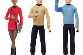 Mattel Barbie Star Trek Uhura Kirk and Spock